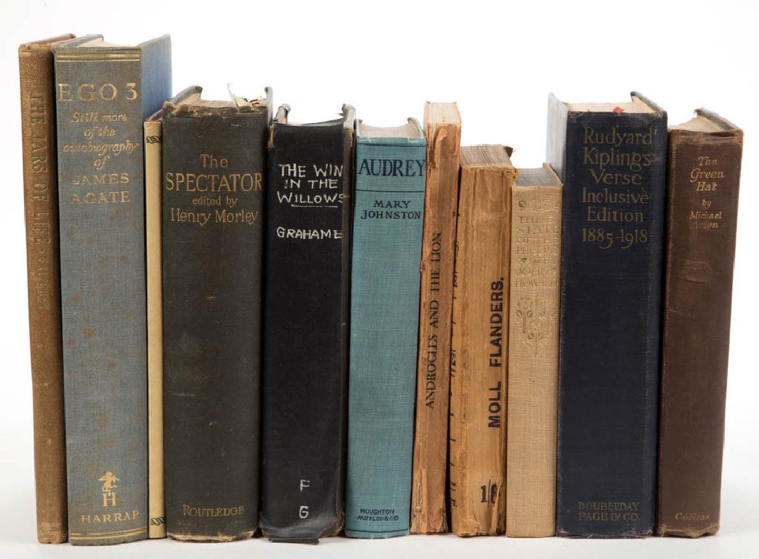 ASSORTED LITERATURE VOLUMES, LOT OF 11