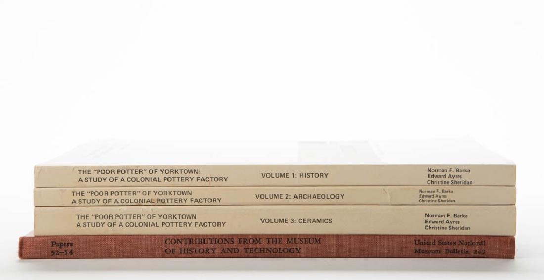 AMERICAN CERAMIC YORKTOWN VOLUMES, LOT OF FOUR