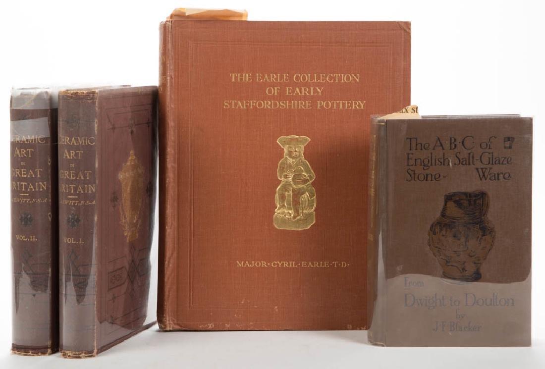 BRITISH CERAMIC VOLUMES, LOT OF FOUR