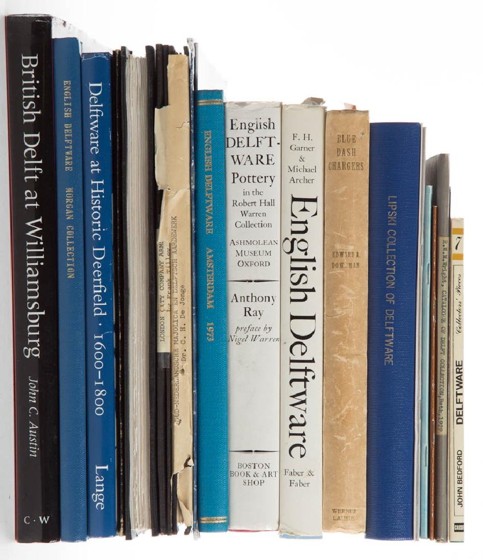 ASSORTED DELFT CERAMIC VOLUMES / RESEARCH MATERIALS,