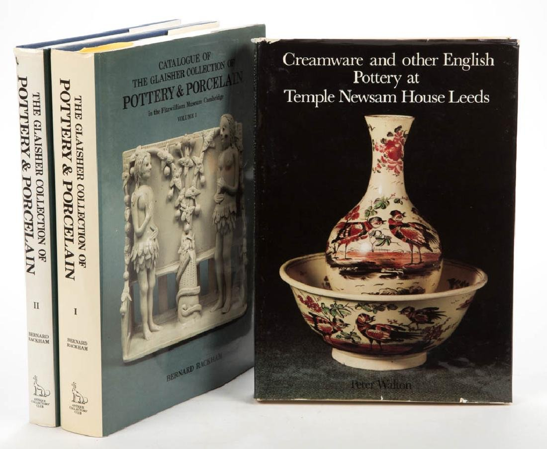 ENGLISH CERAMIC VOLUMES, LOT OF THREE