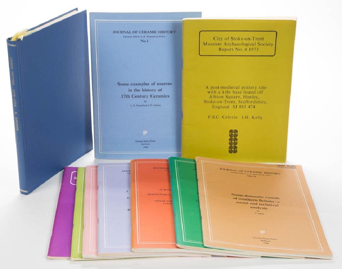 ENGLISH CERAMIC VOLUMES, LOT OF TEN