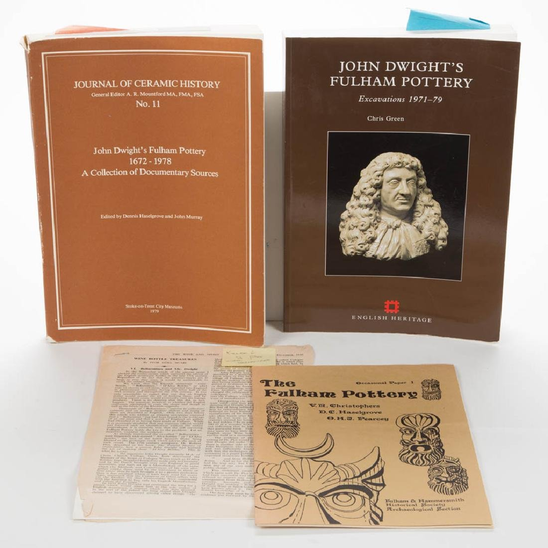 ENGLISH CERAMIC FULHAM VOLUMES / RESEARCH MATERIALS,