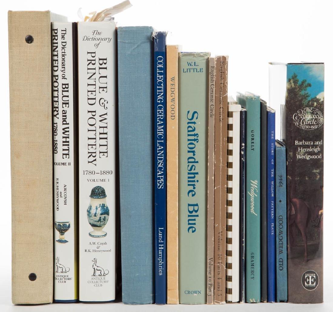 ENGLISH TRANSFER-PRINTED / WEDGWOOD CERAMIC VOLUMES /