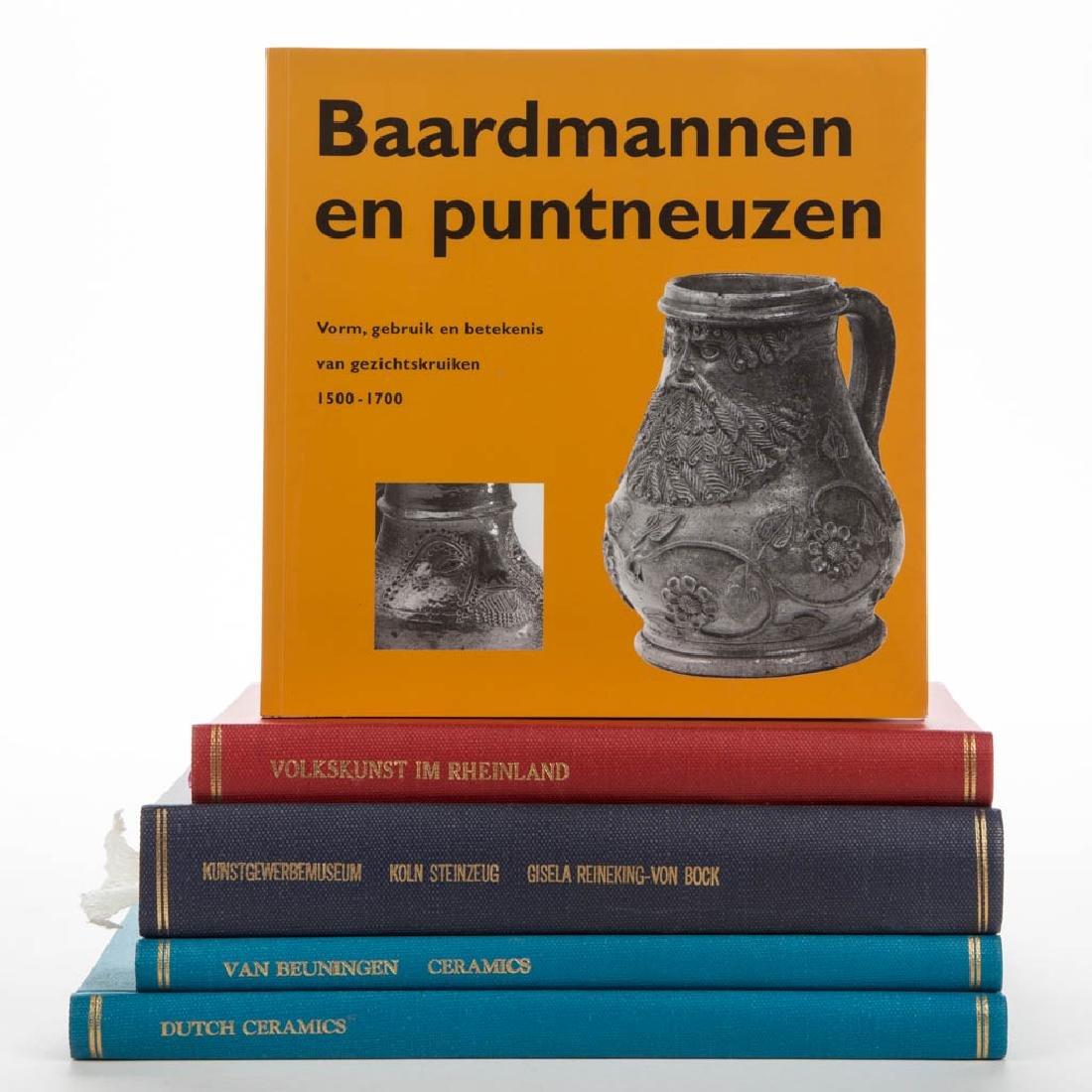 GERMAN / CONTINENTAL CERAMIC VOLUMES, LOT OF FIVE