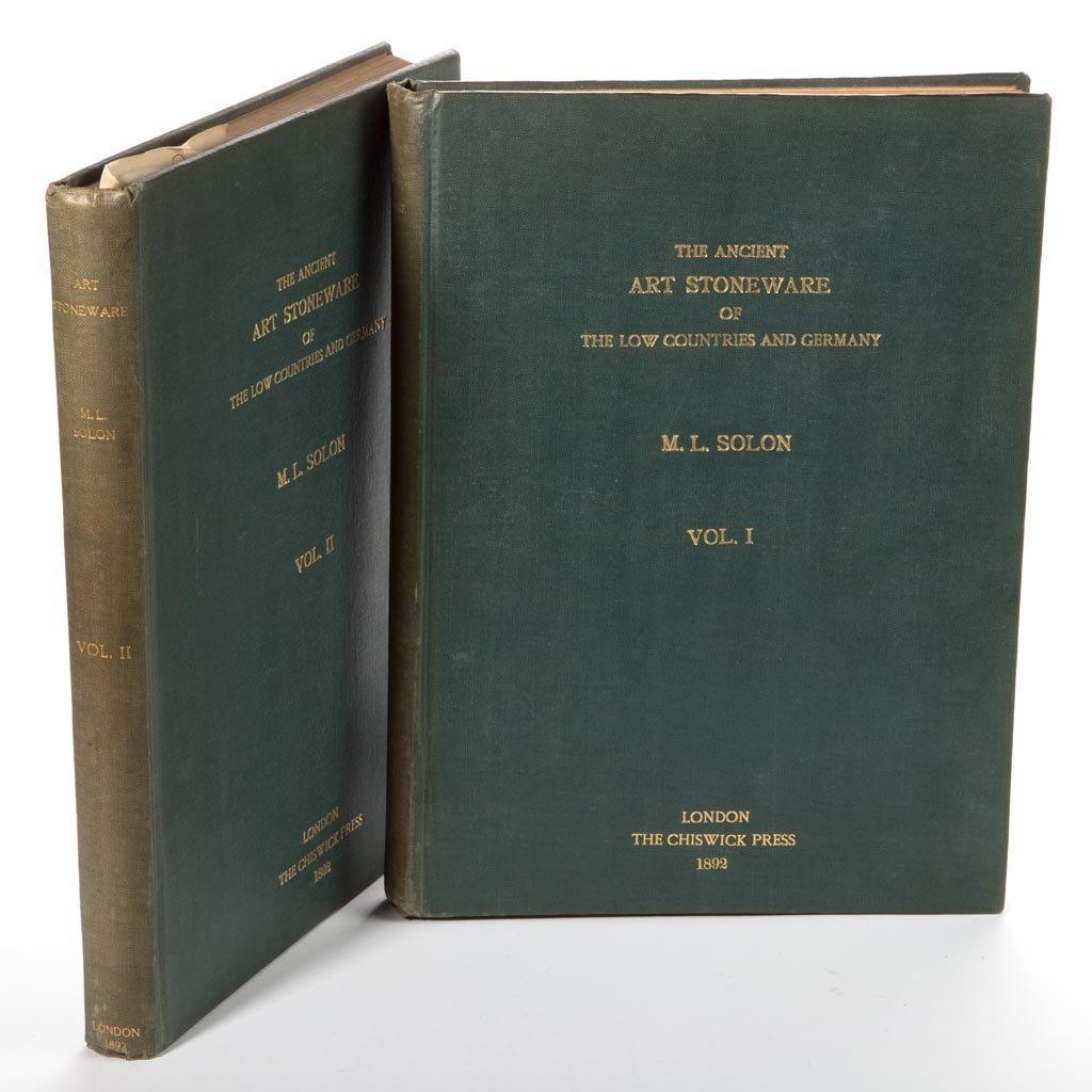 GERMAN / CONTINENTAL STONEWARE CERAMIC VOLUMES, LOT OF