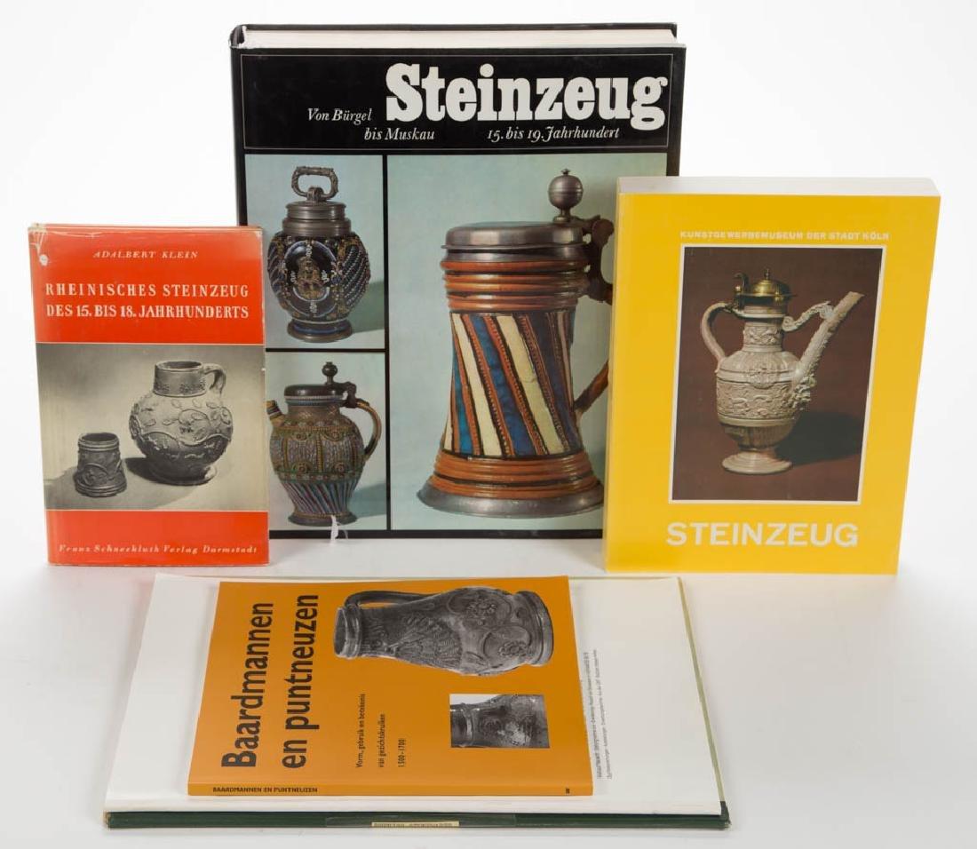 GERMAN STONEWARE CERAMIC VOLUMES / RESEARCH MATERIALS,