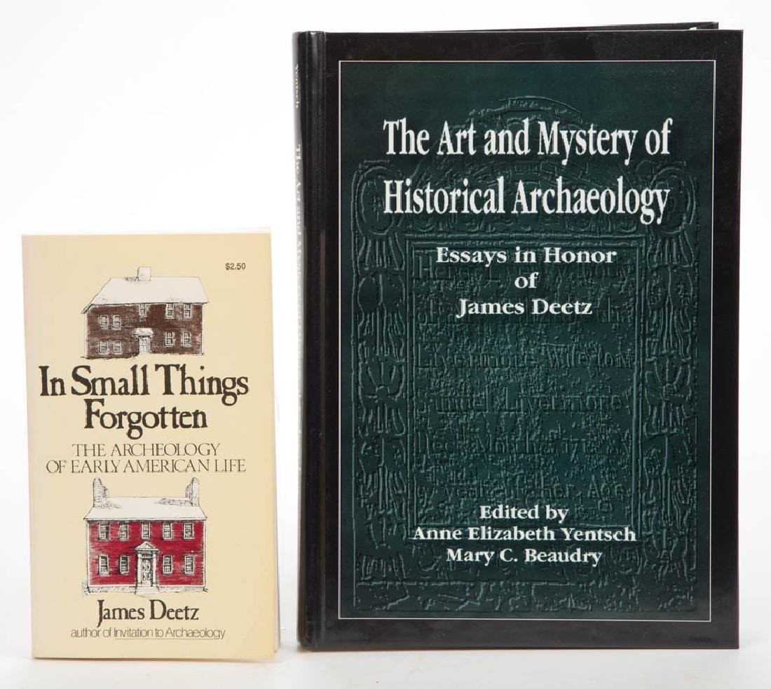 AMERICAN ARCHAEOLOGY DEETZ VOLUMES, LOT OF TWO