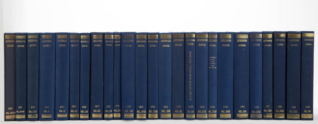 ENGLISH KENT ARCHAEOLOGY VOLUMES, LOT OF 25