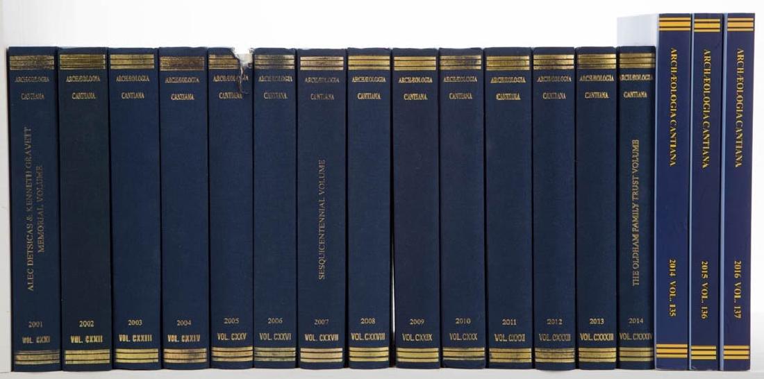 ENGLISH KENT ARCHAEOLOGY VOLUMES, LOT OF 17