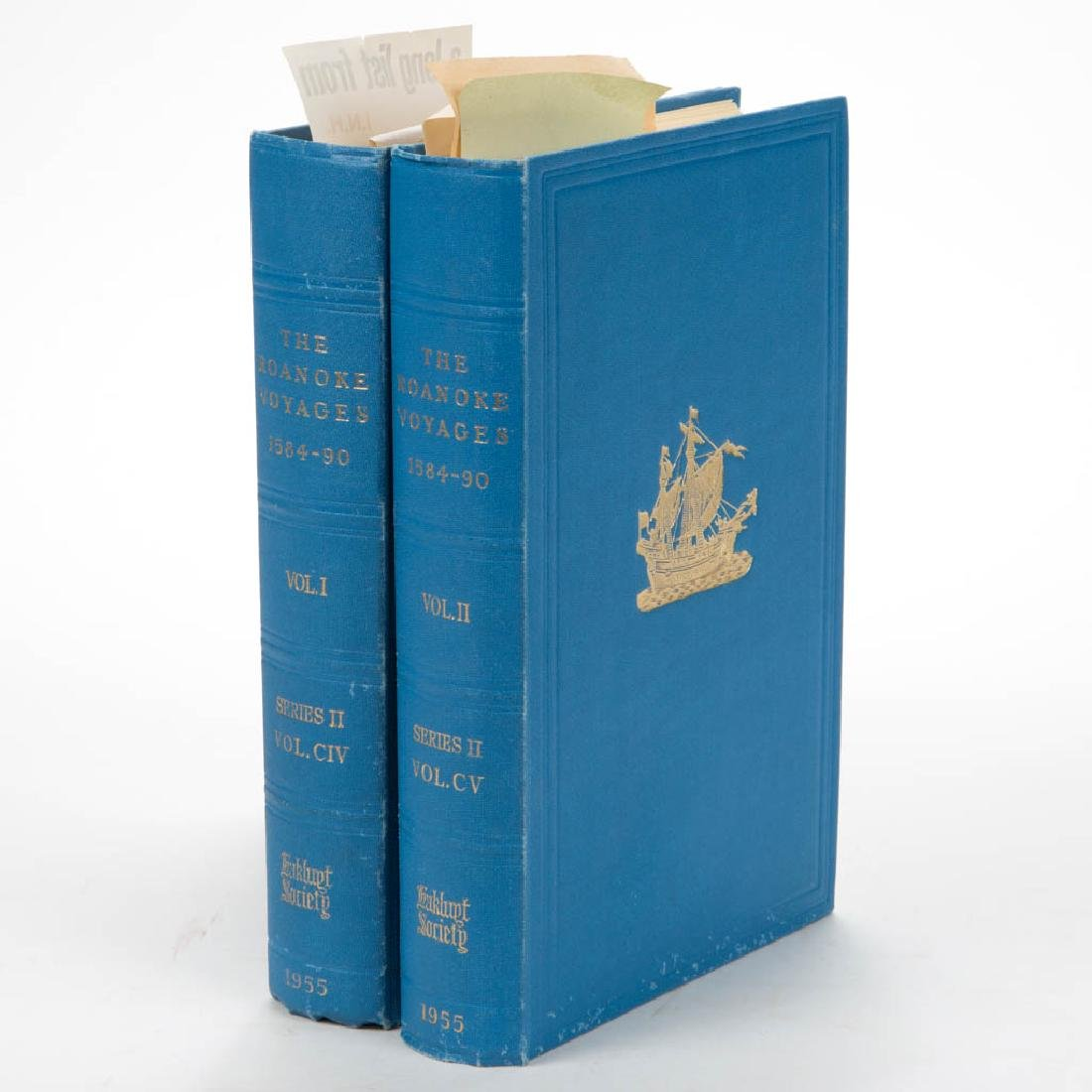 AMERICAN / BRITISH HISTORY ROANOKE VOYAGES VOLUMES, LOT