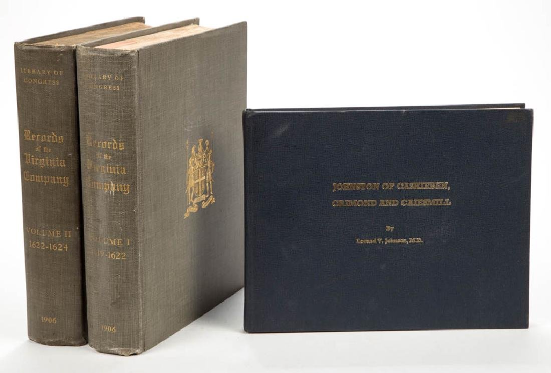 AMERICAN / BRITISH HISTORY VIRGINIA COMPANY VOLUMES,