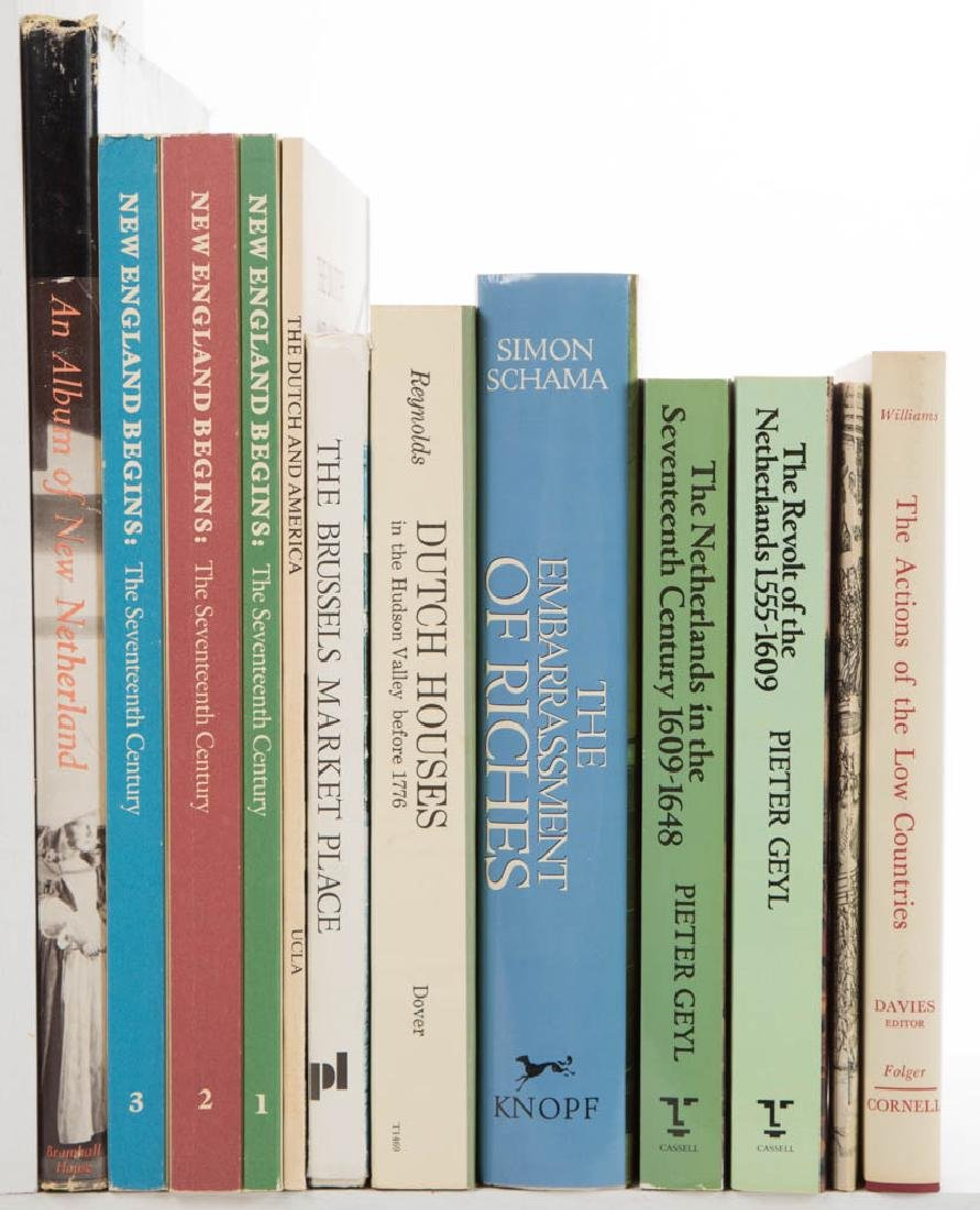 AMERICAN / DUTCH / BELGIAN HISTORY VOLUMES, LOT OF 12