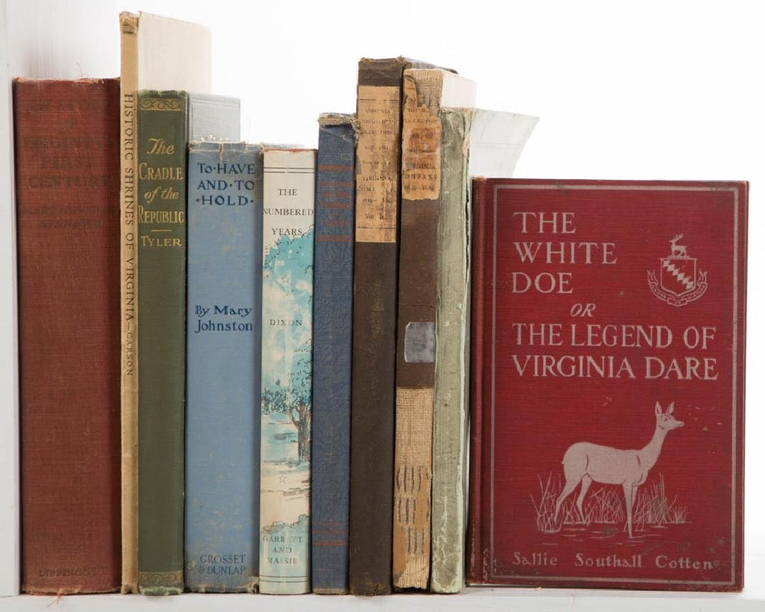 AMERICAN COLONIAL VIRGINIA HISTORY AND RELATED VOLUMES,