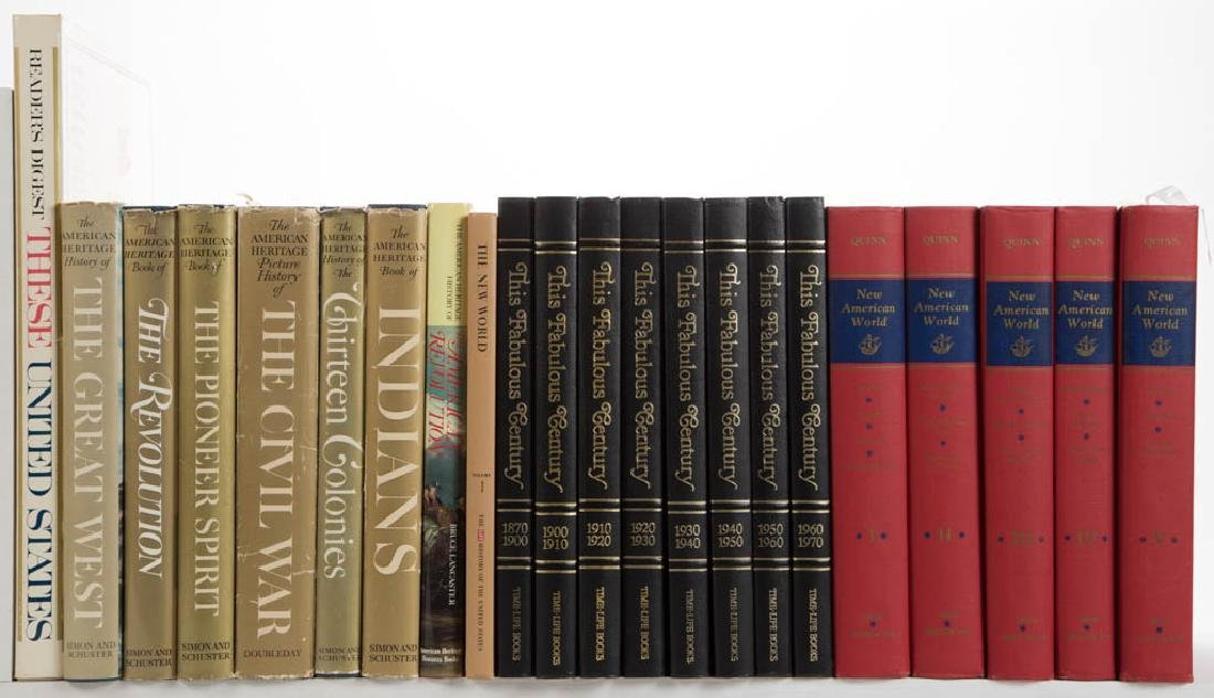 AMERICAN HISTORY AND RELATED VOLUMES, LOT OF 22