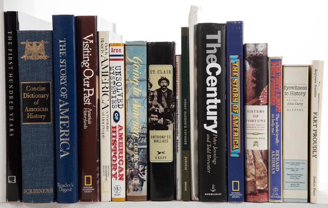 ASSORTED AMERICAN HISTORY VOLUMES, LOT OF 32
