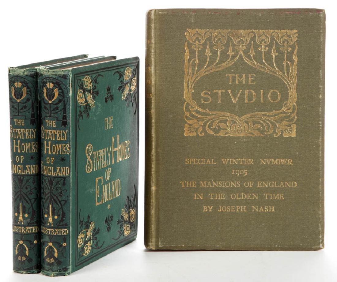 BRITISH ARCHITECTURE VOLUMES, LOT OF THREE