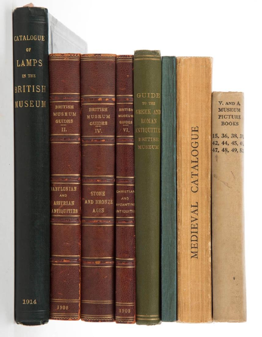 BRITISH MUSEUM ANTIQUITIES GUIDE VOLUMES, LOT OF SEVEN