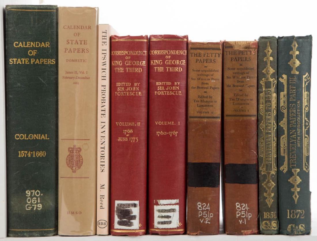 BRITISH PRIMARY SOURCE VOLUMES, LOT OF NINE