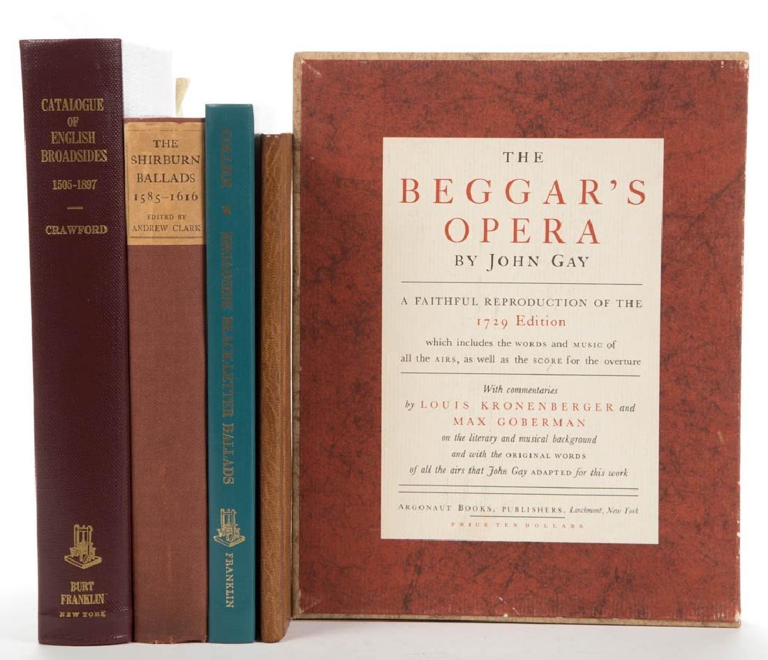ENGLISH BALLAD / BROADSIDE LITERATURE VOLUMES, LOT OF