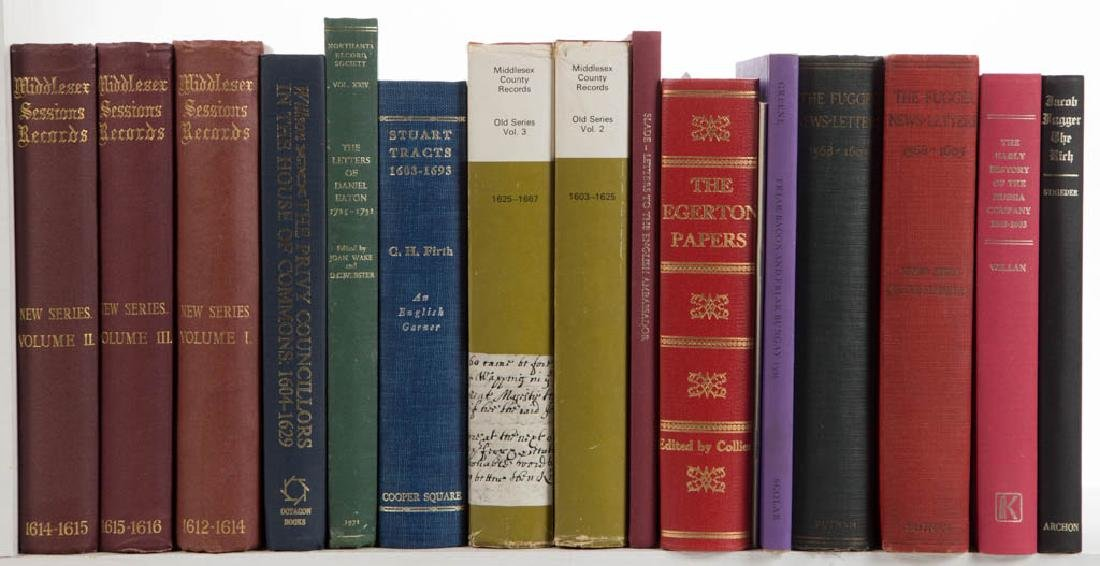 ENGLISH HISTORY VOLUMES, LOT OF 16