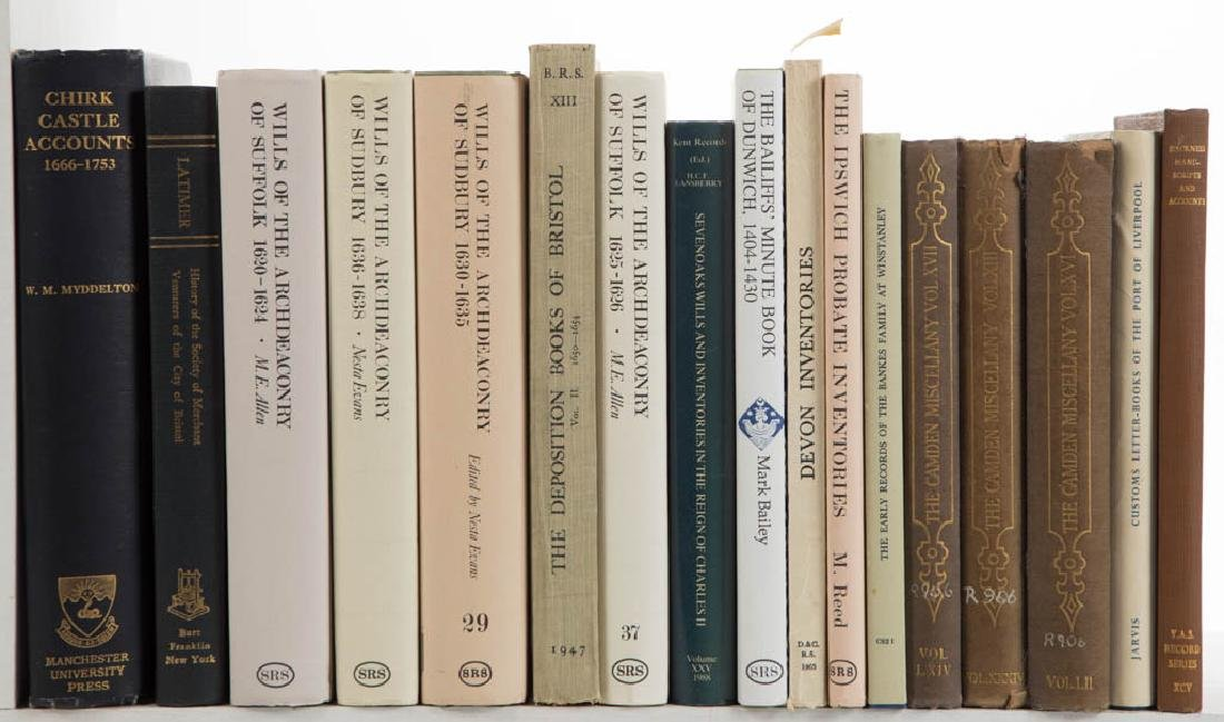 ENGLISH HISTORY VOLUMES, LOT OF 17