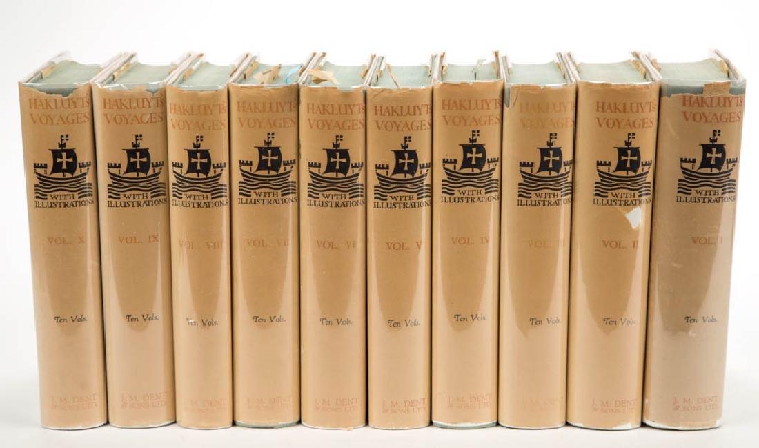 ENGLISH HISTORY HAKLUYT VOYAGES VOLUMES, LOT OF TEN