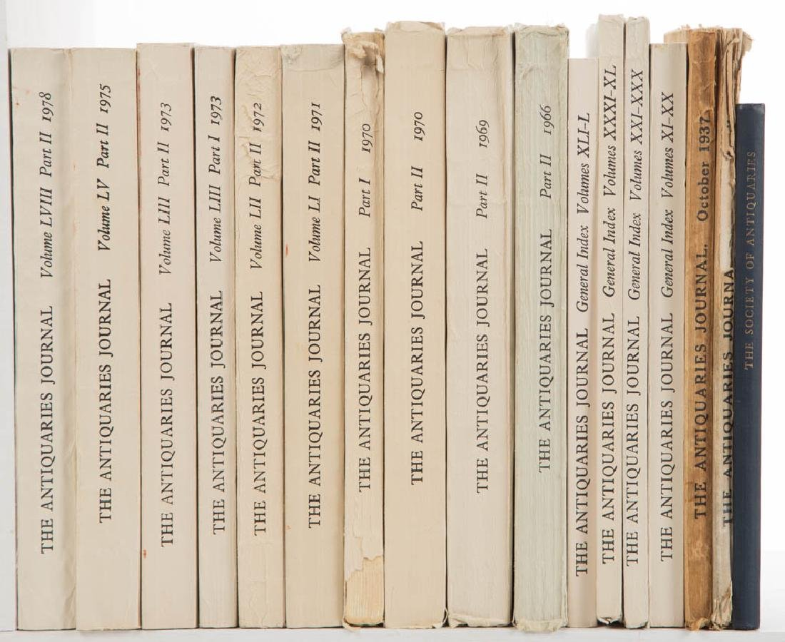 ANTIQUITIES JOURNALS AND RELATED VOLUMES, LOT OF 17