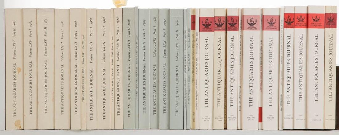 ANTIQUITIES JOURNALS AND RELATED VOLUMES, LOT OF 33