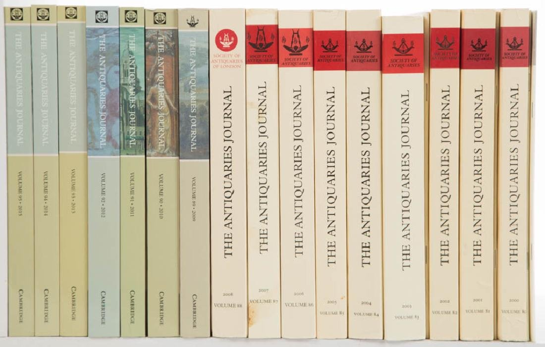 ANTIQUITIES JOURNALS AND RELATED VOLUMES, LOT OF 20