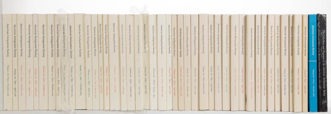 ANTIQUITIES JOURNALS AND RELATED VOLUMES, LOT OF 44