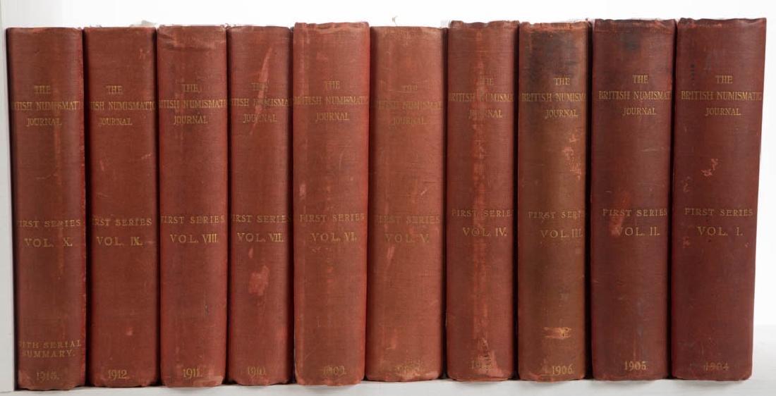 BRITISH NUMISMATIC JOURNALS, LOT OF TEN