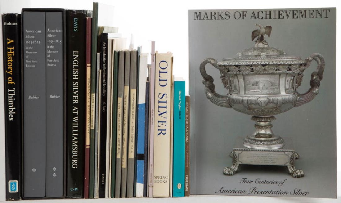 SILVER AND RELATED VOLUMES / RESEARCH MATERIALS, LOT OF