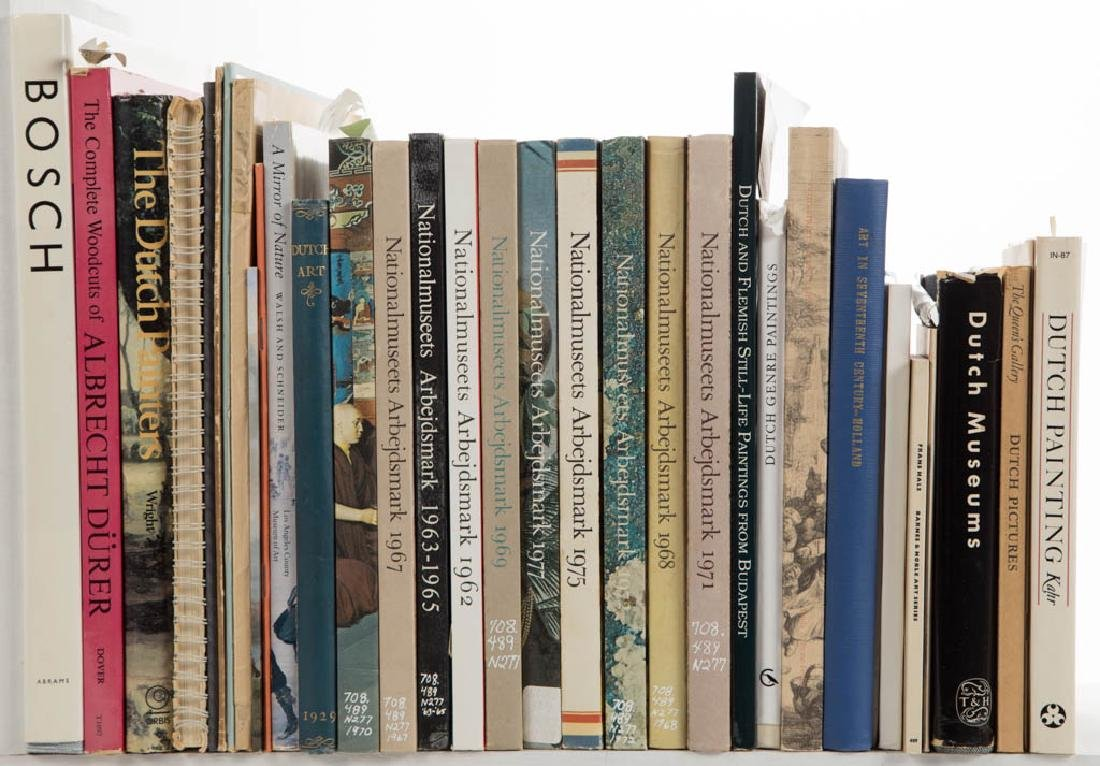 DUTCH / EUROPEAN ART AND RELATED VOLUMES, LOT OF 34