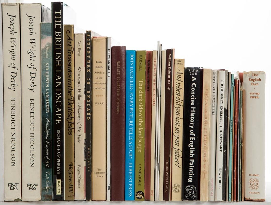 ENGLISH ART VOLUMES, LOT OF 33