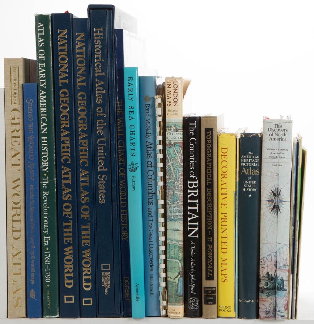 ASSORTED ATLASES / CARTOGRAPHY AND RELATED VOLUMES /