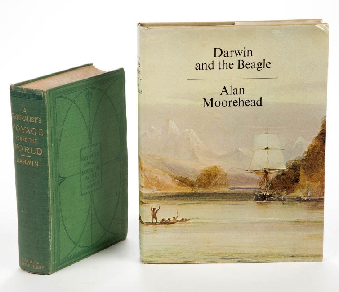 LITERATURE / NATURALISM DARWIN VOLUMES, LOT OF TWO