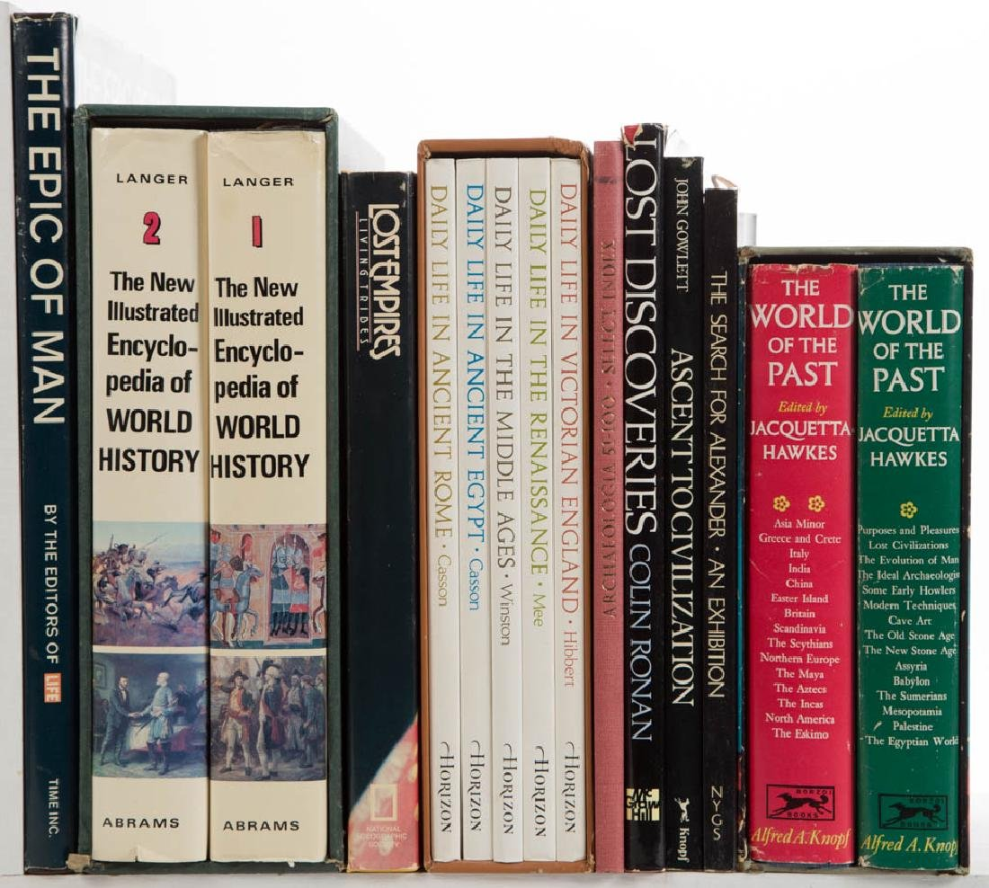 WORLD HISTORY AND RELATED VOLUMES, LOT OF 33