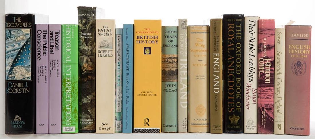 ENGLISH / GENERAL HISTORY VOLUMES, LOT OF 34