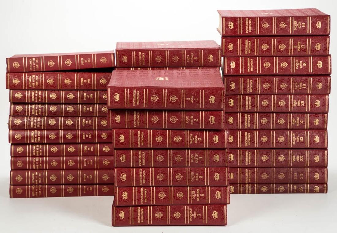 ENCYCLOPEDIA BRITANNICA VOLUMES, SET OF 35