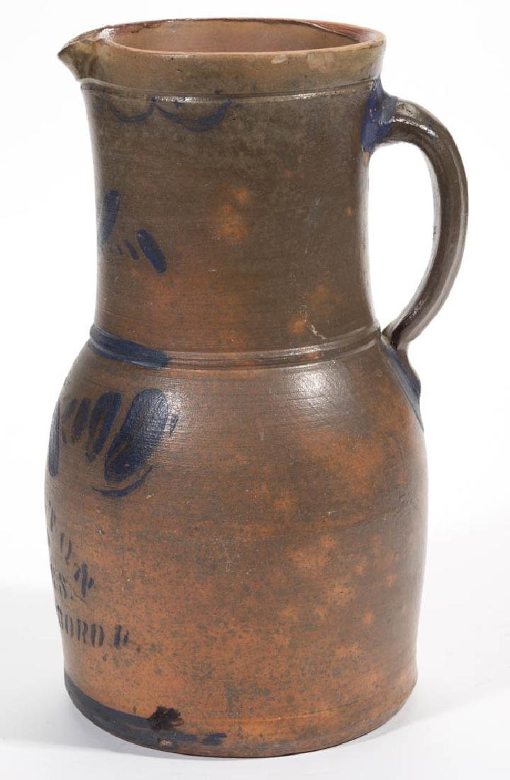 WESTERN PENNSYLVANIA DECORATED STONEWARE PITCHER - 2