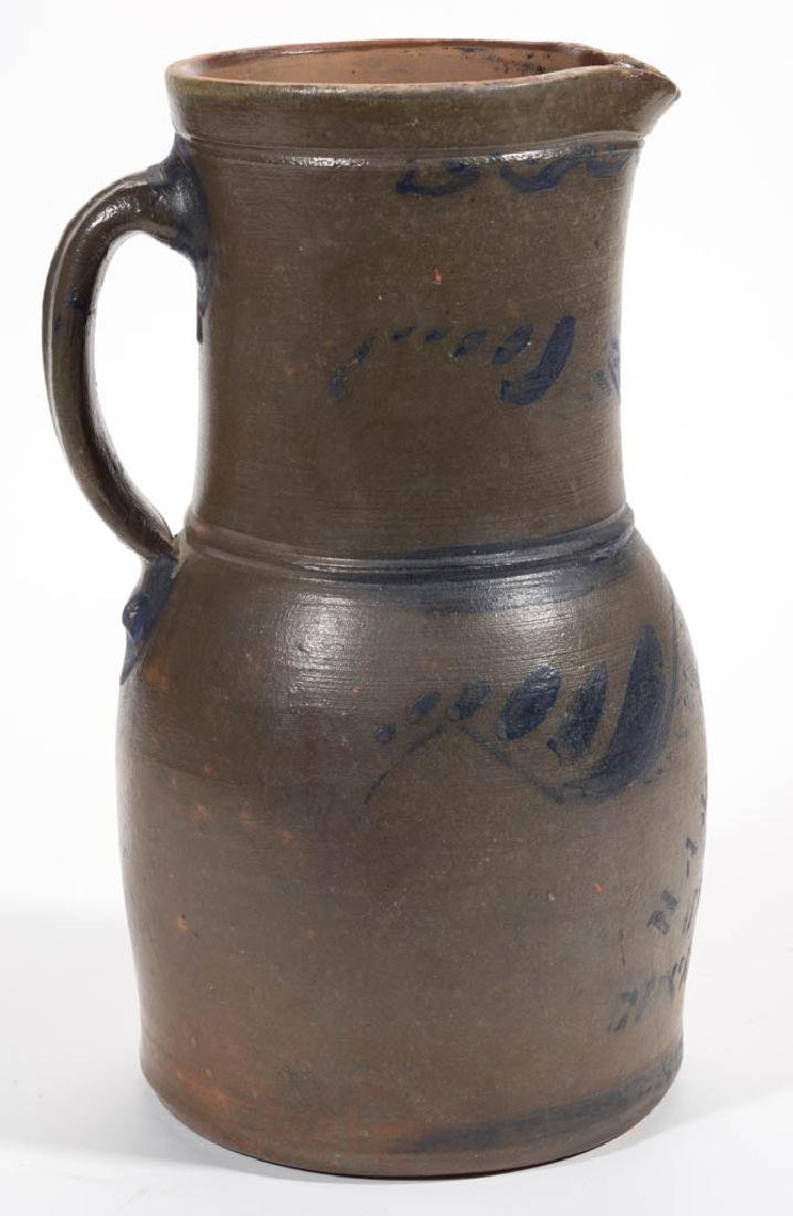 WESTERN PENNSYLVANIA DECORATED STONEWARE PITCHER - 4
