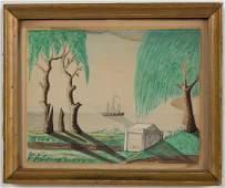 AMERICAN SCHOOL (19TH CENTURY) FOLK ART MEMORIAL /