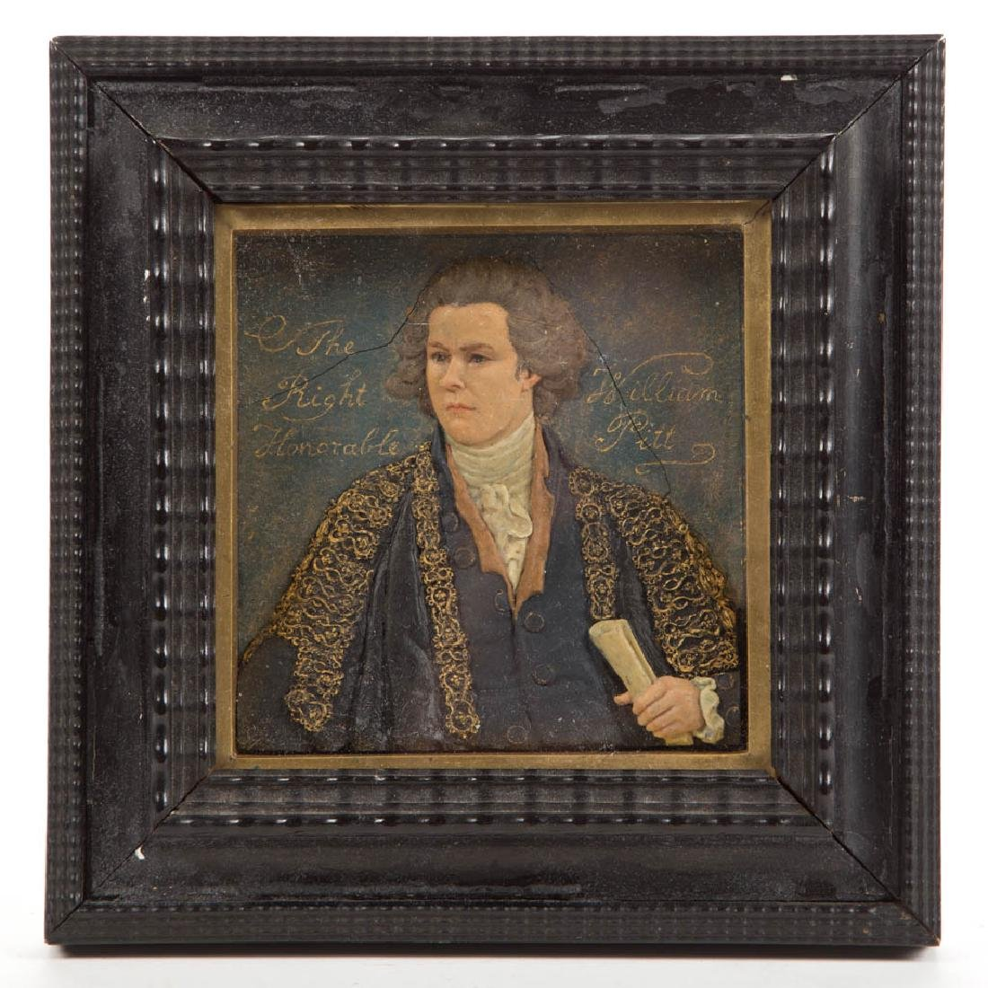 WILLIAM PITT THE YOUNGER WAX PORTRAIT