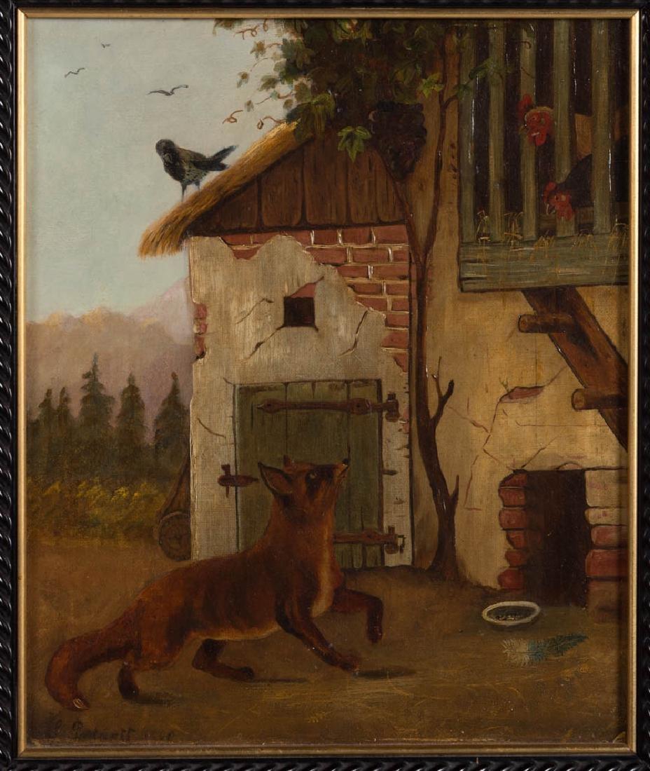 PAIR OF BRITISH SCHOOL (19TH CENTURY) FOLK ART FARM - 4