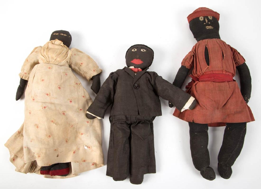 BLACK AMERICANA CLOTH DOLLS, LOT OF THREE