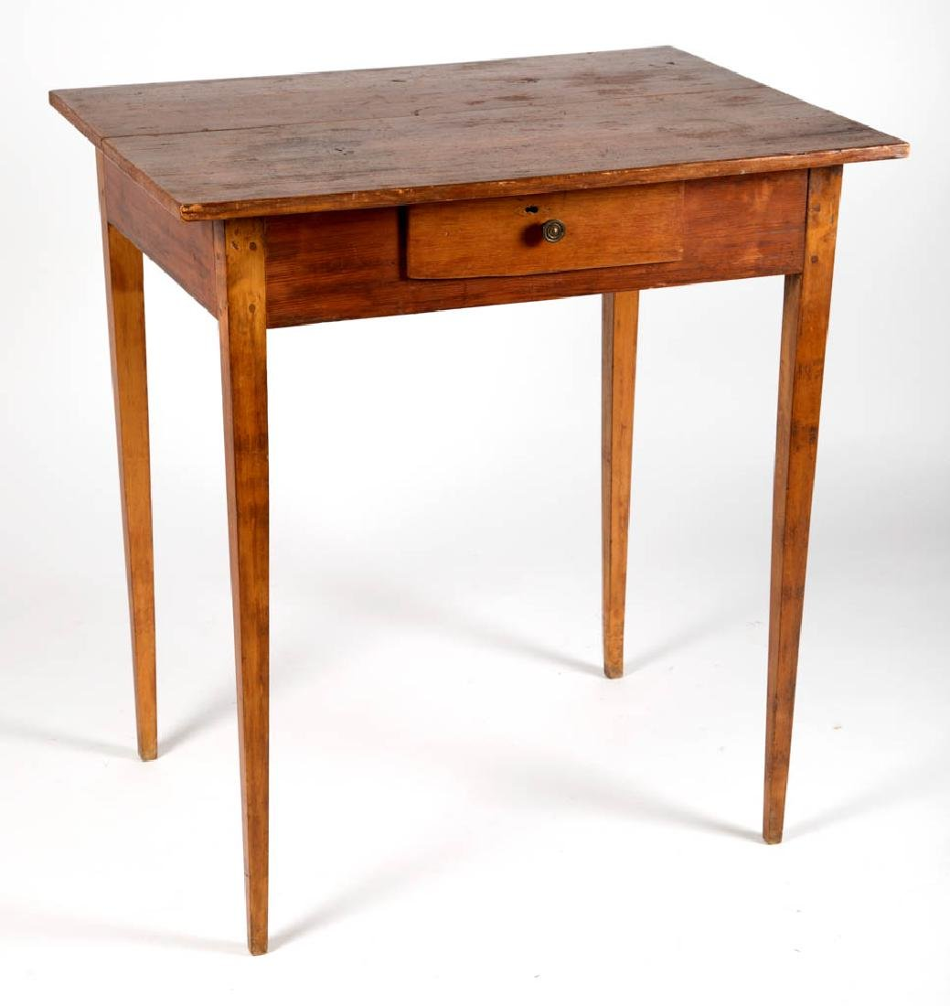 VIRGINIA BIRCH AND YELLOW PINE SERVING TABLE