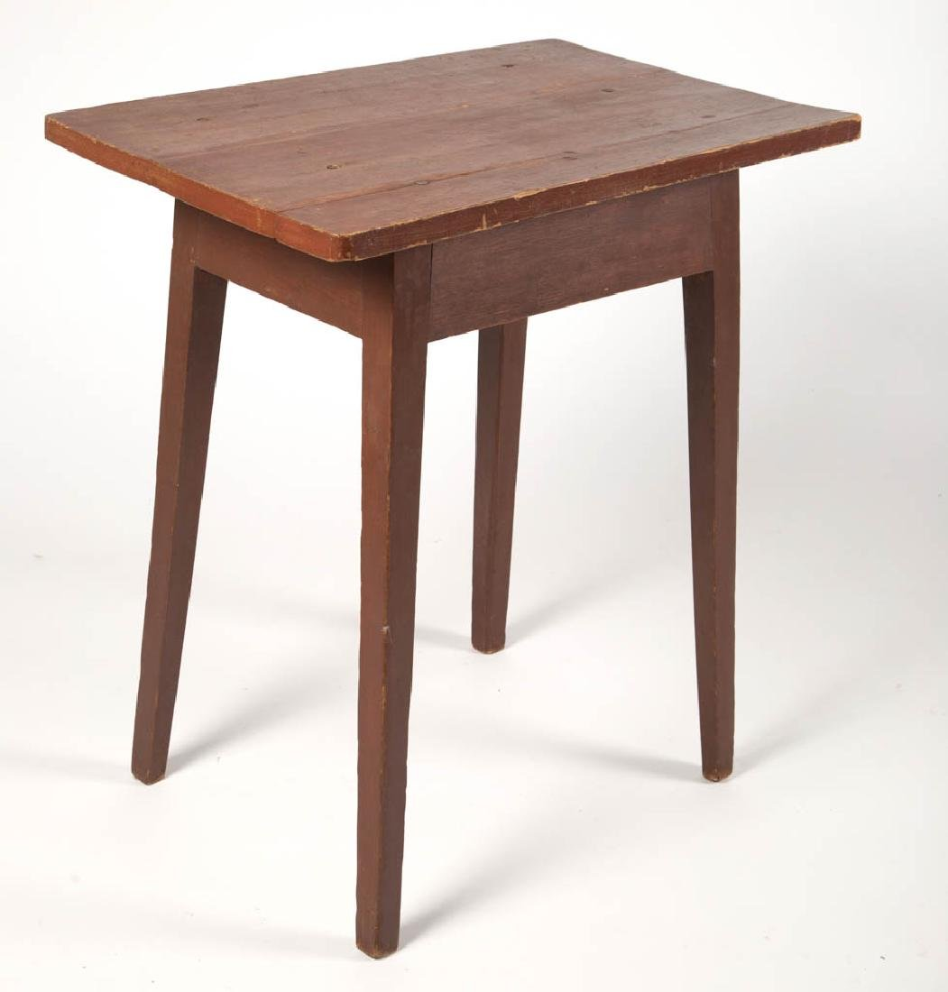 MID-ATLANTIC PAINTED PINE SPLAYED-LEG STAND TABLE - 2