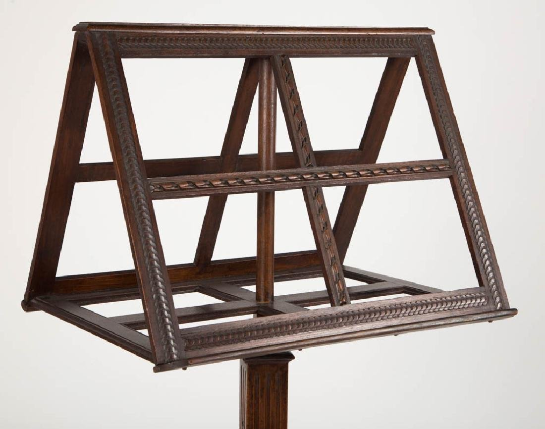 NEOCLASSICAL CARVED MAHOGANY MUSIC LECTERN / STAND - 2