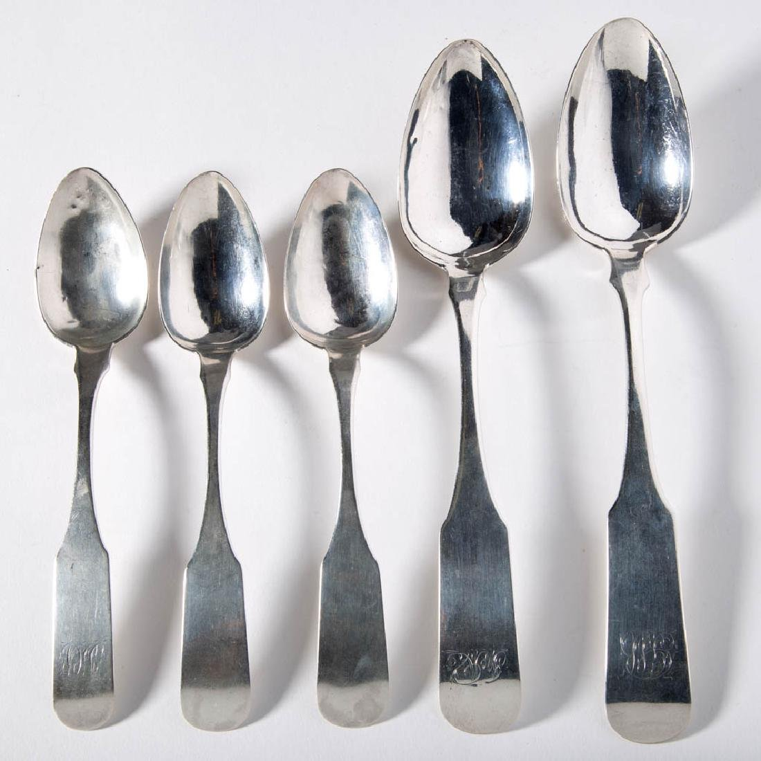BALTIMORE, MARYLAND COIN SILVER SPOONS, LOT OF FIVE
